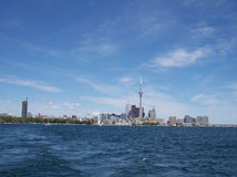 Downtown Toronto. Ontario, Canada. Shot was taken from a boat on Lake Ontario. This photo was taken July 25th. 2004 stock photography
