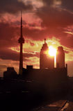 Downtown Toronto royalty free stock photography