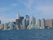 Downtown toronto. Toronto skyline from lake ontario Royalty Free Stock Image