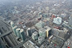 Downtown Toronto, Aerial View Royalty Free Stock Photography