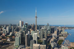 Downtown Toronto  from the air Royalty Free Stock Photo
