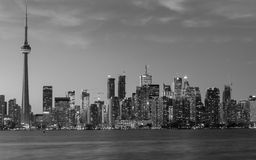 Downtown Toronto in Black and White royalty free stock photo