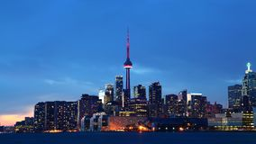Downtown Toronto, Canada at sunset. Downtown Toronto in Canada at sunset stock photo