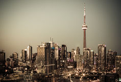 Downtown Toronto and CN Tower Royalty Free Stock Images