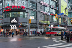Downtown Toronto, one of the major intersections in the city Stock Photo