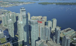 Downtown Toronto. Picture of downtown Toronto, Ontario as seen from CN tower stock photos
