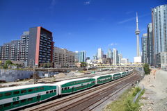 Downtown Toronto Railway and Train Royalty Free Stock Images