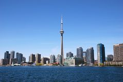 Downtown Toronto Skyline. View from Ontario lake Royalty Free Stock Image