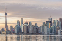 Downtown Toronto skyline with the CN Tower and Financial District skyscrapers Stock Photography