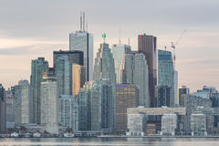 Downtown Toronto skyline with  the Financial District skyscrapers Royalty Free Stock Photo