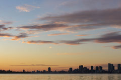 Downtown Toronto skyline at sunset Stock Photography