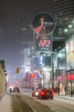 Downtown Toronto during a snowfall Royalty Free Stock Image