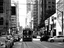 Downtown of Toronto with Streetcar stock photo