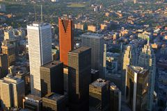 Downtown Toronto at Sunset Royalty Free Stock Photography