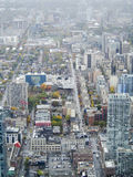 Downtown Toronto. A view of downtown Toronto from the CN Tower, one of the tallest buildings in the world Royalty Free Stock Photo