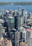 Downtown Toronto Viewed from the Air Stock Images