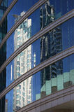 Downtown Tower Reflection, Vancouver Stock Photo