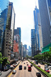 Downtown traffic in hong kong Stock Images