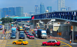 Downtown traffic in hong kong Royalty Free Stock Photo