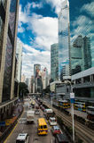 Downtown traffic in hong kong royalty free stock photos