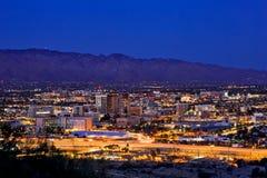 Downtown Tucson, Arizona city skyline royalty free stock images