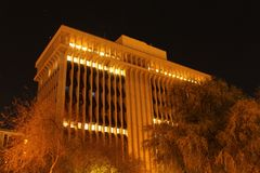 Downtown Tucson at Night Stock Image