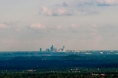 Downtown uptown Charlotte,  North Carolina skyline in the distance Stock Photo