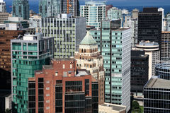 Downtown Vancouver. British Columbia. Downtown Vancouver. Aerial View royalty free stock photos
