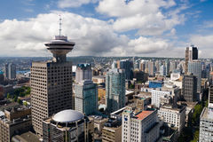 Downtown Vancouver. Aerial view of Downtown Vancouver stock image
