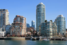 Downtown of Vancouver. View from Granville Island royalty free stock images