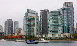 Downtown Vancouver in Autumn. Royalty Free Stock Photo