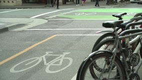 Downtown Vancouver Bicycle Lane 4K UHD stock footage
