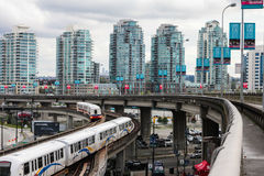 Downtown Vancouver, British Columbia. Stock Photography