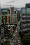 Downtown Vancouver, British Columbia. Royalty Free Stock Images