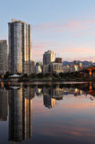 Downtown vancouver and cambie bridge Royalty Free Stock Photo