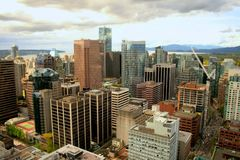 Downtown Vancouver, Canada Royalty Free Stock Photography