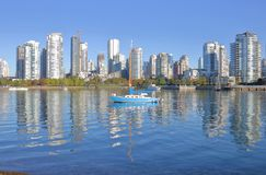Downtown Vancouver, Canada and False Creek Royalty Free Stock Images
