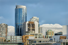 Downtown Vancouver, Coast Mountain Backdrop Stock Photography