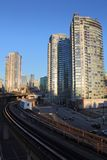 Downtown Vancouver, Commuter Rail Stock Photos