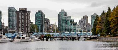 Downtown Vancouver at dusk. Stock Image
