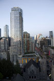 Downtown Vancouver evening light Royalty Free Stock Images