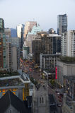 Downtown Vancouver evening light Royalty Free Stock Photos