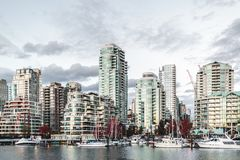 Downtown Vancouver at Fall in BC, Canada royalty free stock images