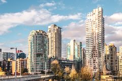 Downtown Vancouver at Fall in BC, Canada royalty free stock photo