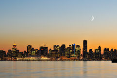 Downtown vancouver night scene Royalty Free Stock Image
