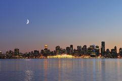 Downtown vancouver night scene Stock Photography
