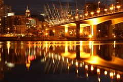 Downtown Vancouver, North Shore of False Creek Stock Image