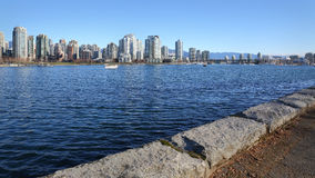 Downtown Vancouver, Seawall View Stock Photography