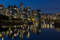 Downtown Vancouver. Vancouver Skyline During The Night royalty free stock photo