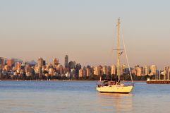 Downtown Vancouver at sunset Royalty Free Stock Photos